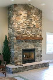stone gas fireplace ideas inserts contemporary closed hearth built