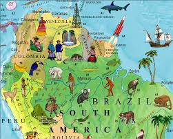 World Map For Kids Illustrated Map Of The World For Kids Children U0027s World Map