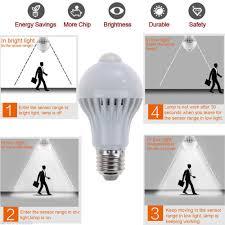light bulbs with sensors low energy pir motion sensor auto led l bulb infrared energy saving light 5w