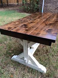 Ana White Picnic Table Double Pedestal 6 U0027 Farmhouse Table Do It Yourself Home Projects