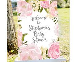 baby shower welcome sign baby shower etsy