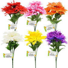 artificial flowers bulk floral garden 6 stem bushes 10 5 in at dollartree