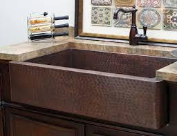 copper apron front sink sinks inside effects