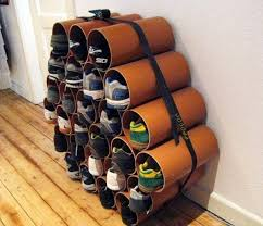 how to build a low cost shoe rack using pvc pipes macgyverisms