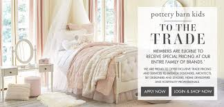 Pottery Barn Credit Card Logon To The Trade Pottery Barn Kids