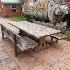 Wooden Patio Tables Dining Room Outdoor Tables Chairs Reclaimed Wood Outdoor Bar