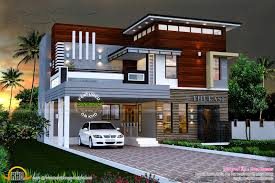 3 Bhk Home Design by 2165 Sq Ft Modern Contemporary House Kerala Home Design Kerala