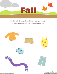 getting dressed preschool seasons worksheets education com