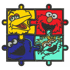 autism awareness machine embroidery digitized appliques and filled