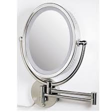amusing lighted magnifying mirror wall mount 10x 65 about remodel