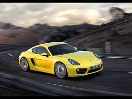 porsche yellow 2013 yellow porsche cayman motion side angle wallpapers 2013