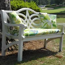 Lowes Patio Bench Furniture White With Floral Green Outdoor Bench Cushions For