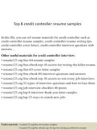 controller resume exle top 8 credit controller resume sles 1 638 jpg cb 1429929966