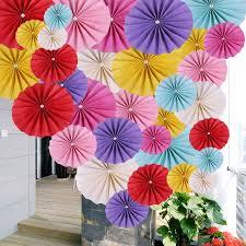 paper decorations 10pcs lot 40cm 16 inch beautiful peal tissuel paper fan flower