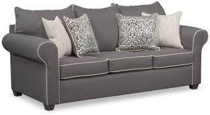 Sears Sofa Bed Carla Memory Foam Sleeper Sofa Gray American Signature