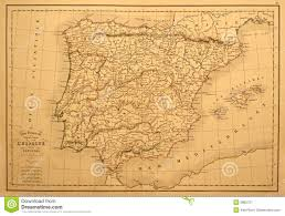 Vintage Map Vintage Map Of Spain And Portugal Stock Image Image 3882721