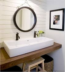 No Room For A Double Sink Vanity Try A Trough Style Sink With Two - Bathrooms with double sinks