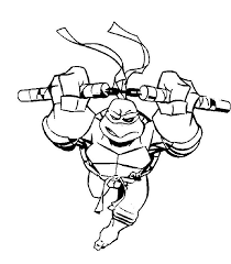mutant ninja turtles michelangelo coloring pages