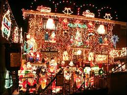 Christmas Decorated Houses Creative Decoration Whole House Christmas Lights Home Ideas N