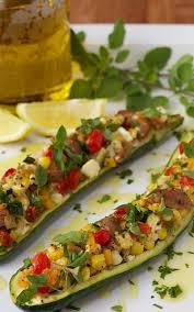Mediterranean Style Food - mediterranean style stuffed zucchini the café sucre farine