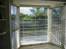 bay window blinds kitchen