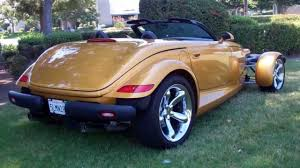 sold 2001 gold prowler for sale by corvette mike california