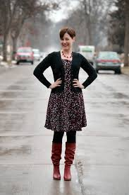 dressed for those red boots already pretty where style meets
