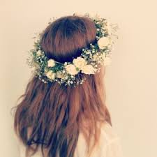 crowning floral spray flower crown with baby s breath and spray roses flowers in your