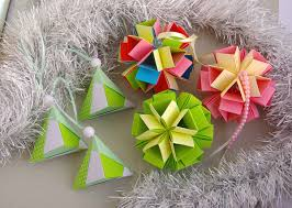origami home decor christmas ornaments by waveoflight etsy com in pink and green
