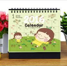 Small Desktop Calendar Free Free Shipping 2016 Cartoon Cute Calendar Lovely Cat Calendar