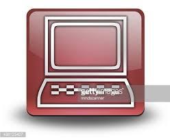 icone bureau ordinateur de bureau icône bouton pictogramme premium clipart