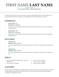Template Resumes by Resumes Free Templates Free Resume Templates 100rescommunities Org