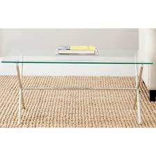 zuo clear glass coffee table 404083 the home depot