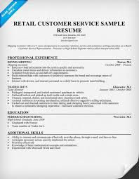 Resume Examples Customer Service Representative by Sample Resume For Customer Service Representative In Retail