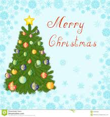 christmas tree greeting card royalty free stock images image