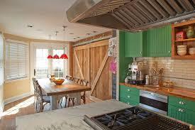 barn kitchen trendy kitchens that unleash the allure of sliding barn doors