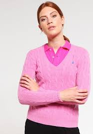 polo ralph lauren kimberly jumper wesley pink heather women