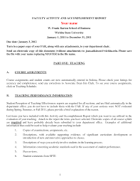assignment report template faculty activity and accomplishment report sle for teachers