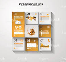 modern ui flat style infographic layout for data display stock