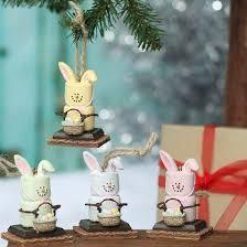 s mores marshmallow bunny ornaments ornaments