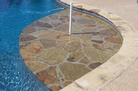 traditional pool in memphis flagstone pool coping in ground