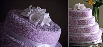 beautiful purple wedding cakes with floral details wedding dress