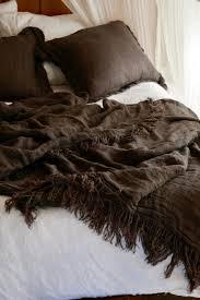 pure linen bed throw set charcoal u2014 ha u0027veli of byron bay