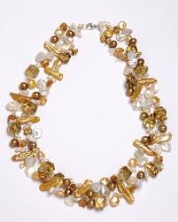 gold pearls necklace images Golden pearl and citrine necklace smithsonian store tif&a