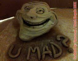 Mad Meme Face - trollface u mad meme sculpture from teh internets by giguruzugi