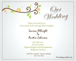 invitation greetings wedding invitation wording for family wedding invitation