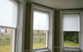 white roller blinds bay window surrey blinds u0026 shutters
