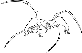 ben 10 coloring pages ultimate spidermonkey coloringstar