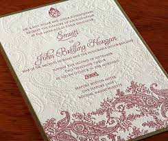 how to word your indian wedding card letterpress wedding