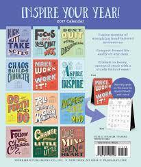 Small Easel Desk Calendar Illustrated Words Of Wisdom Page A Month Desk Easel Calendar 2017